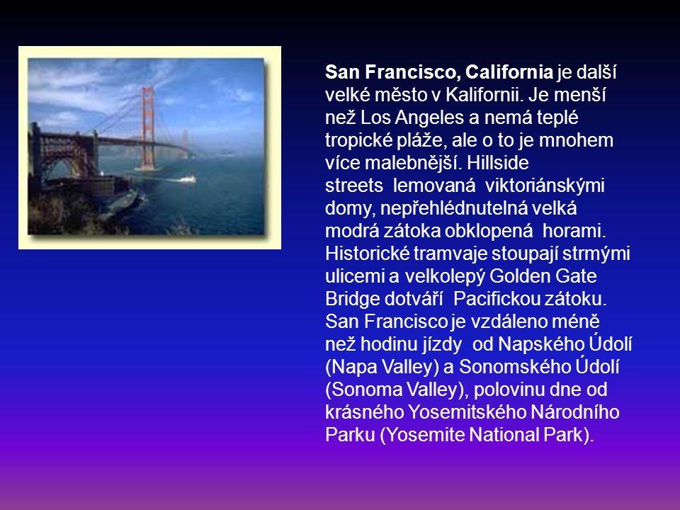San Francisco, California je další velké město v Kalifornii
