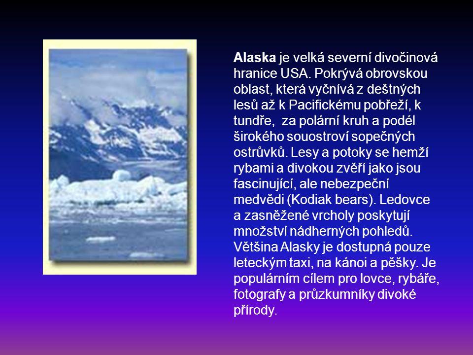Alaska je velká severní divočinová hranice USA