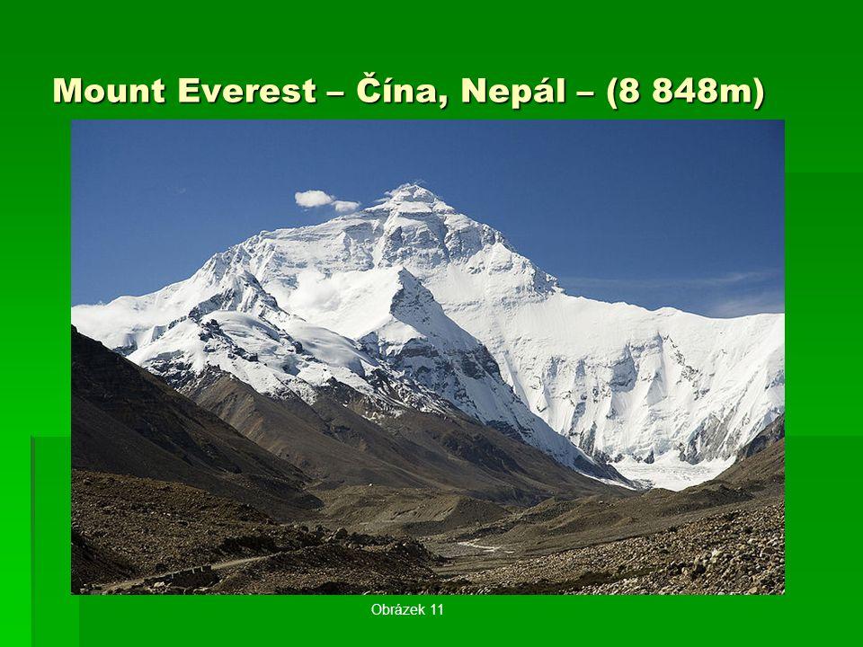 Mount Everest – Čína, Nepál – (8 848m)