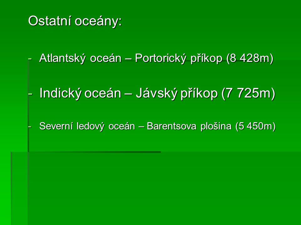 Indický oceán – Jávský příkop (7 725m)