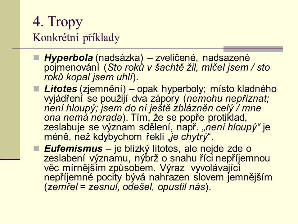 4. Tropy Konkrétní příklady