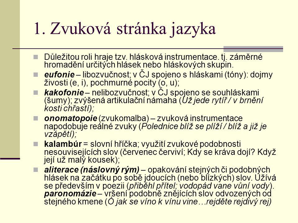 1. Zvuková stránka jazyka