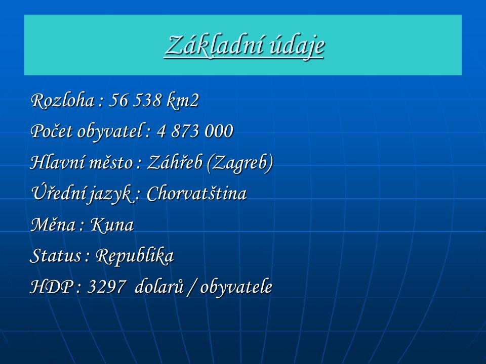 Základní údaje Rozloha : 56 538 km2 Počet obyvatel : 4 873 000