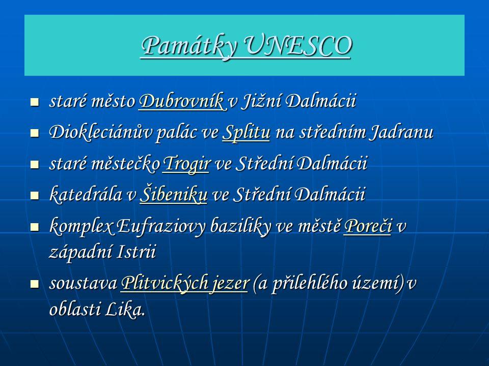 Památky UNESCO staré město Dubrovník v Jižní Dalmácii