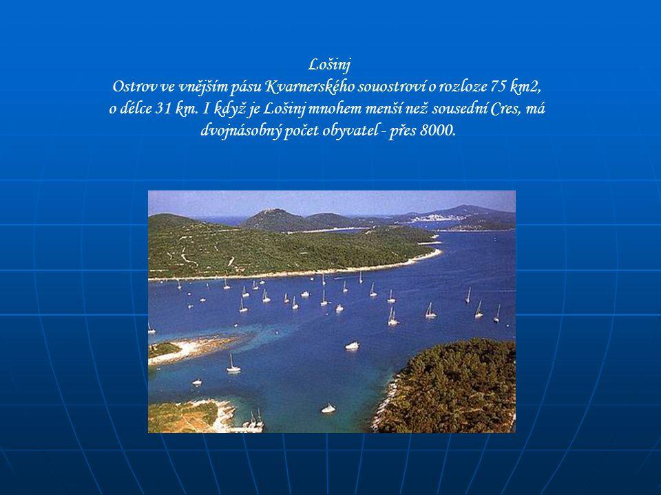 Ostrov ve vnějším pásu Kvarnerského souostroví o rozloze 75 km2,