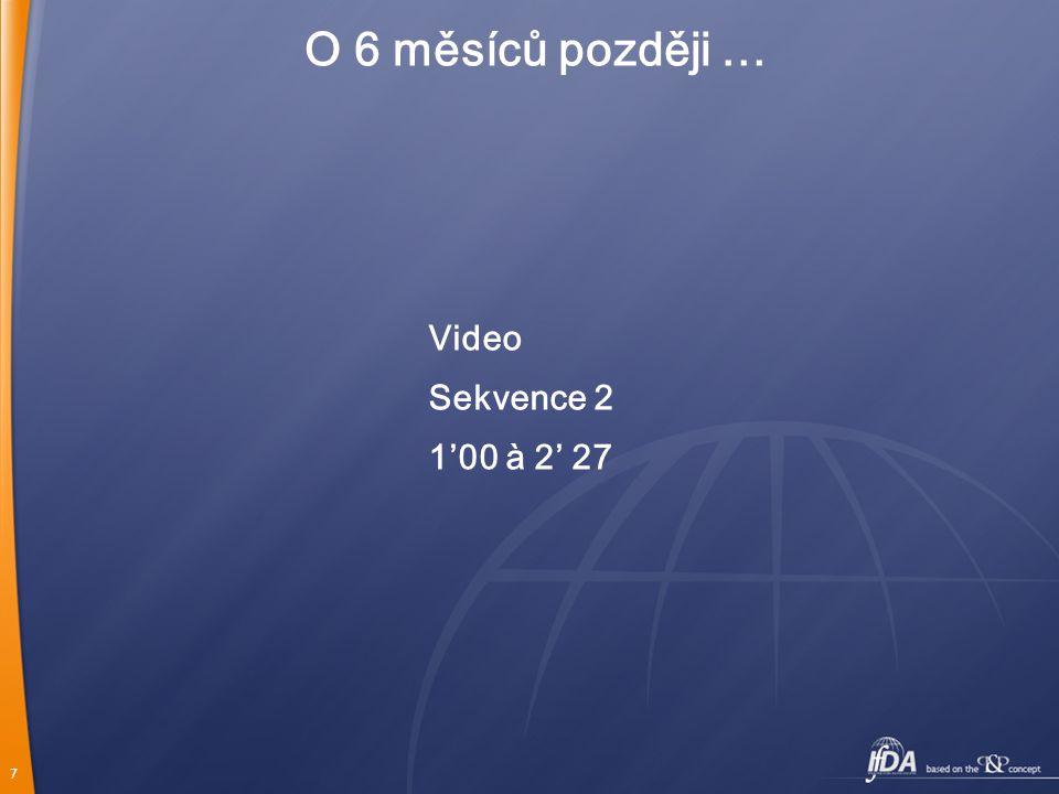 O 6 měsíců později … Video Sekvence 2 1'00 à 2' 27
