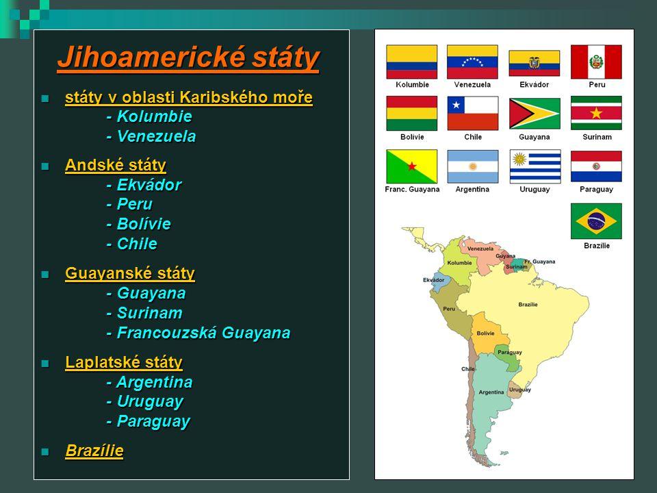 Jihoamerické státy státy v oblasti Karibského moře - Kolumbie