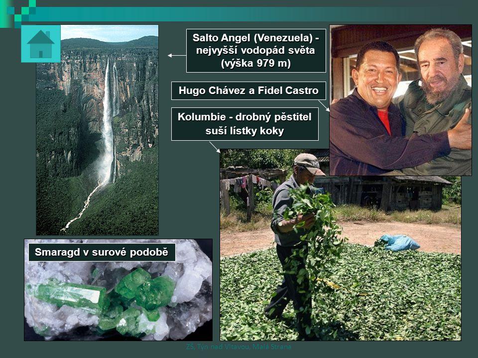Salto Angel (Venezuela) - nejvyšší vodopád světa (výška 979 m)