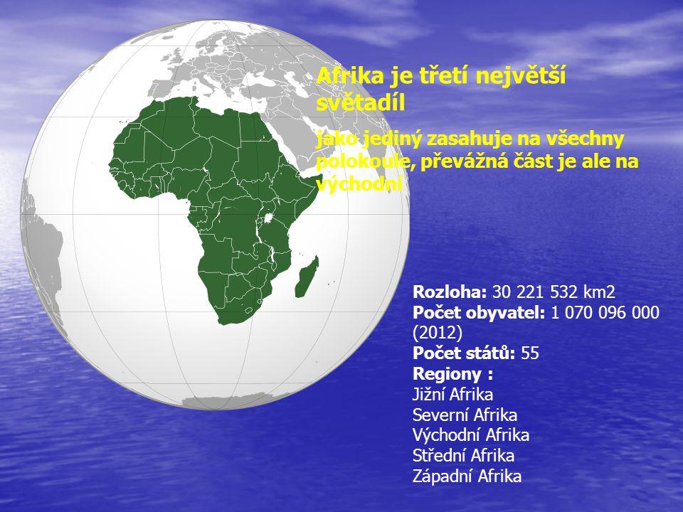 Afrika je třetí největší světadíl