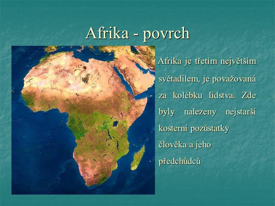 Afrika - povrch