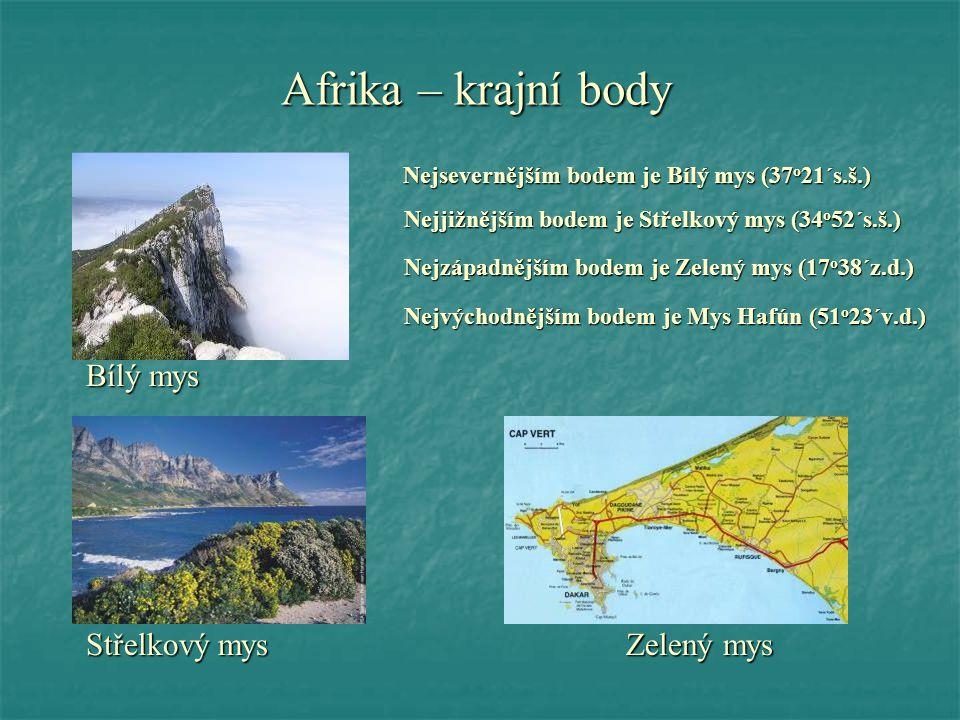 Afrika – krajní body Bílý mys