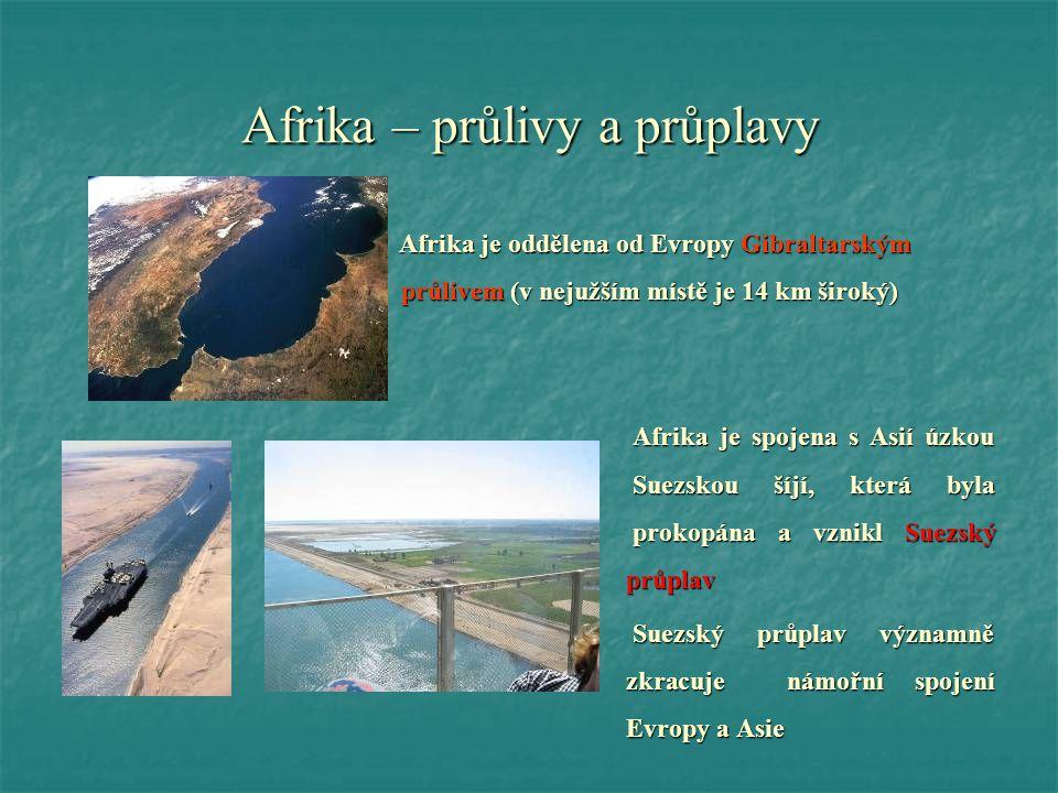 Afrika – průlivy a průplavy