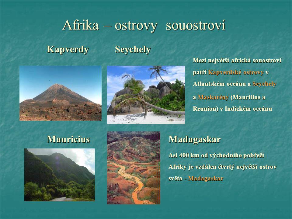 Afrika – ostrovy souostroví
