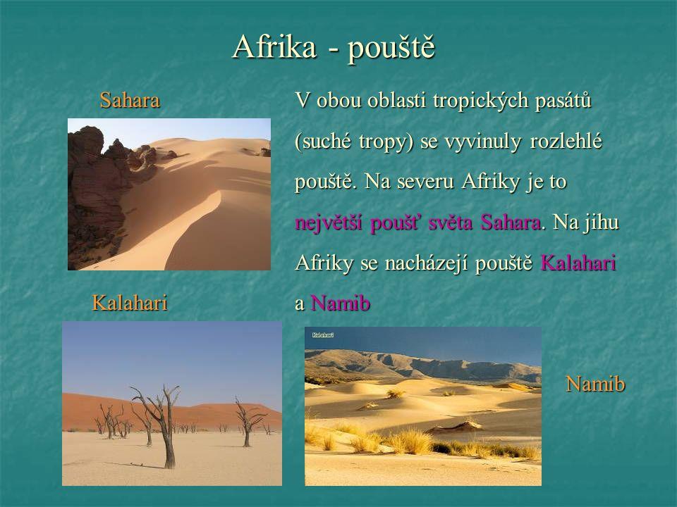 Afrika - pouště Kalahari a Namib Namib