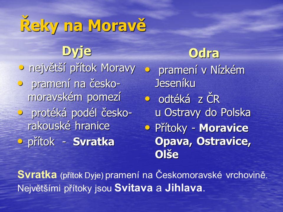 největší přítok Moravy