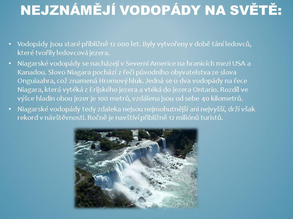 Nejznámějí vodopády na světě: