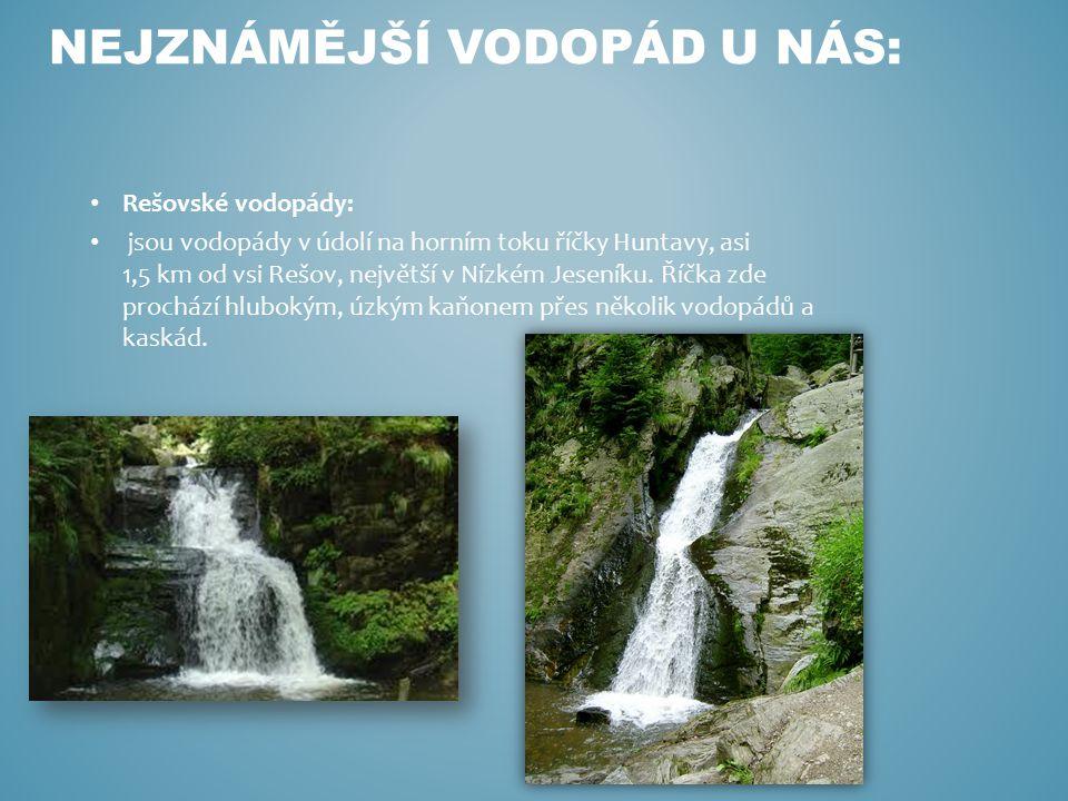Nejznámější vodopád u nás: