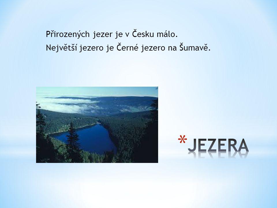 Přirozených jezer je v Česku málo