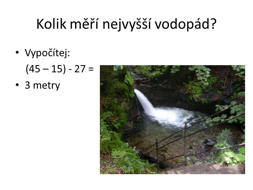 Kolik měří nejvyšší vodopád