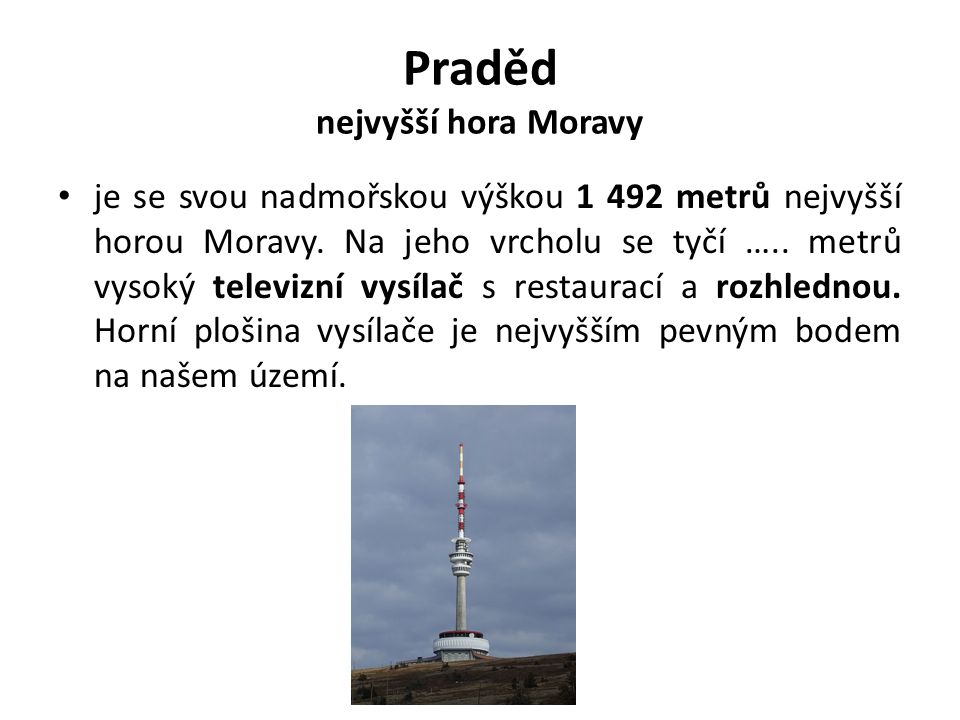 Praděd nejvyšší hora Moravy
