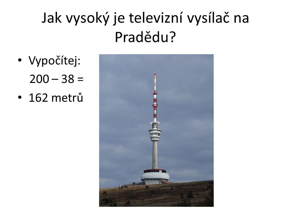 Jak vysoký je televizní vysílač na Pradědu