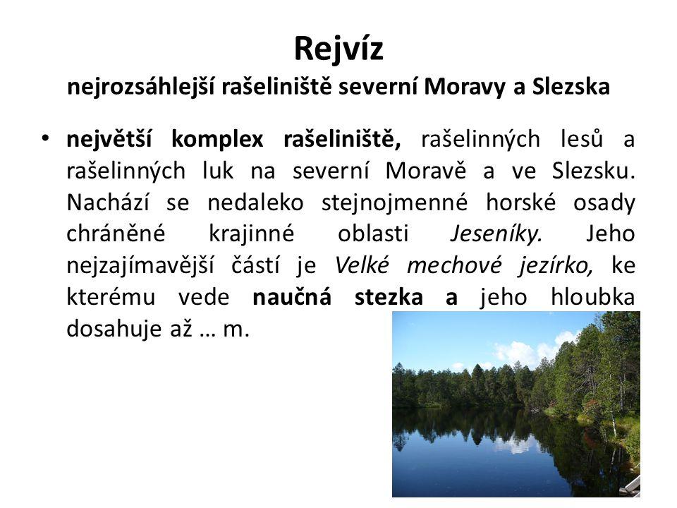 Rejvíz nejrozsáhlejší rašeliniště severní Moravy a Slezska