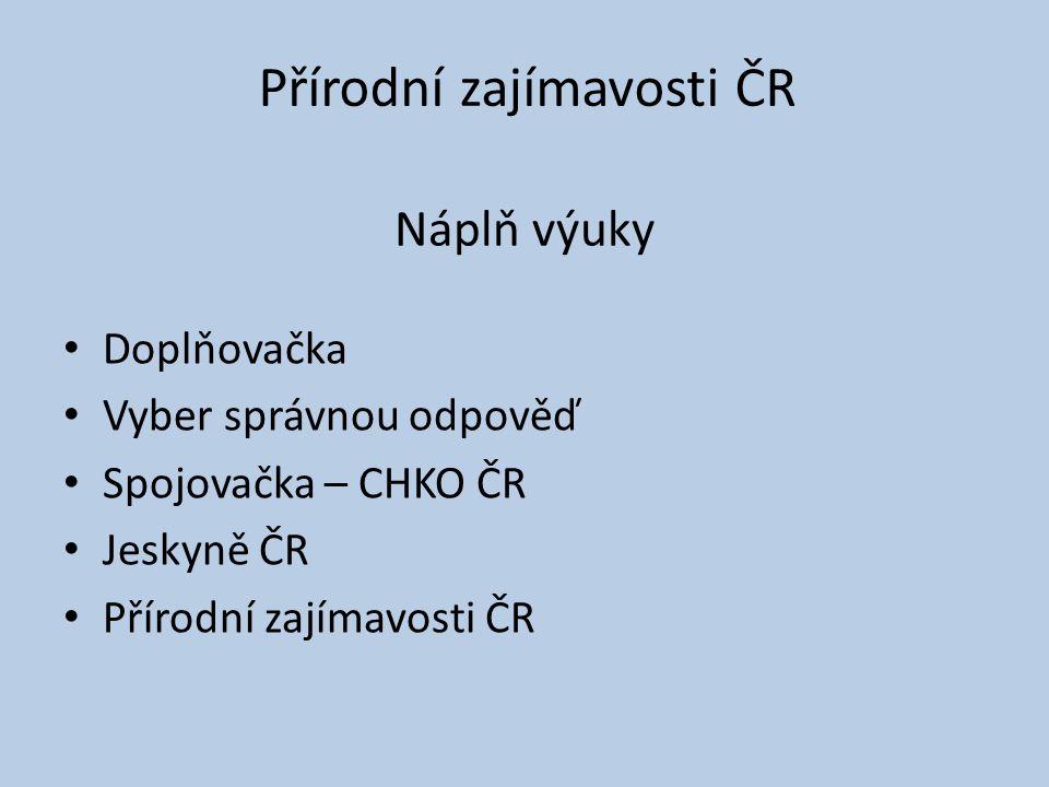 Přírodní zajímavosti ČR