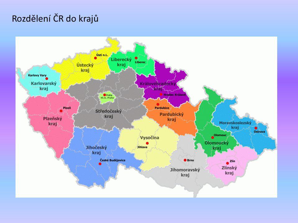 Rozdělení ČR do krajů