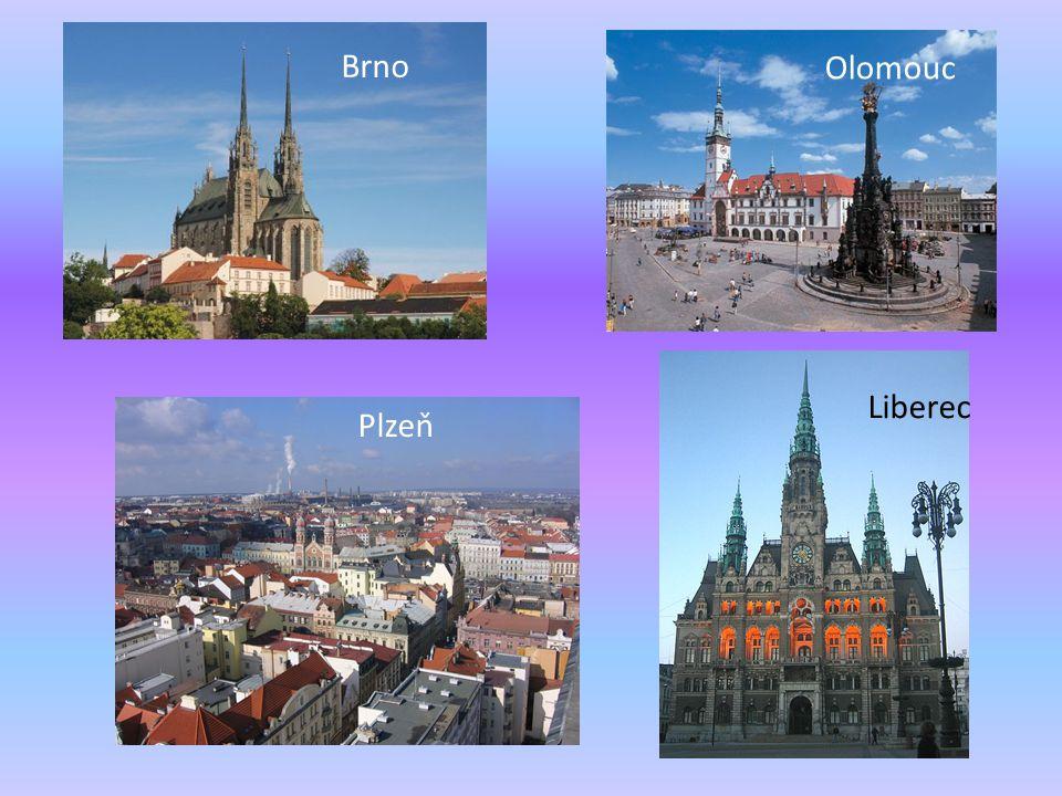 Brno Olomouc Liberec Plzeň
