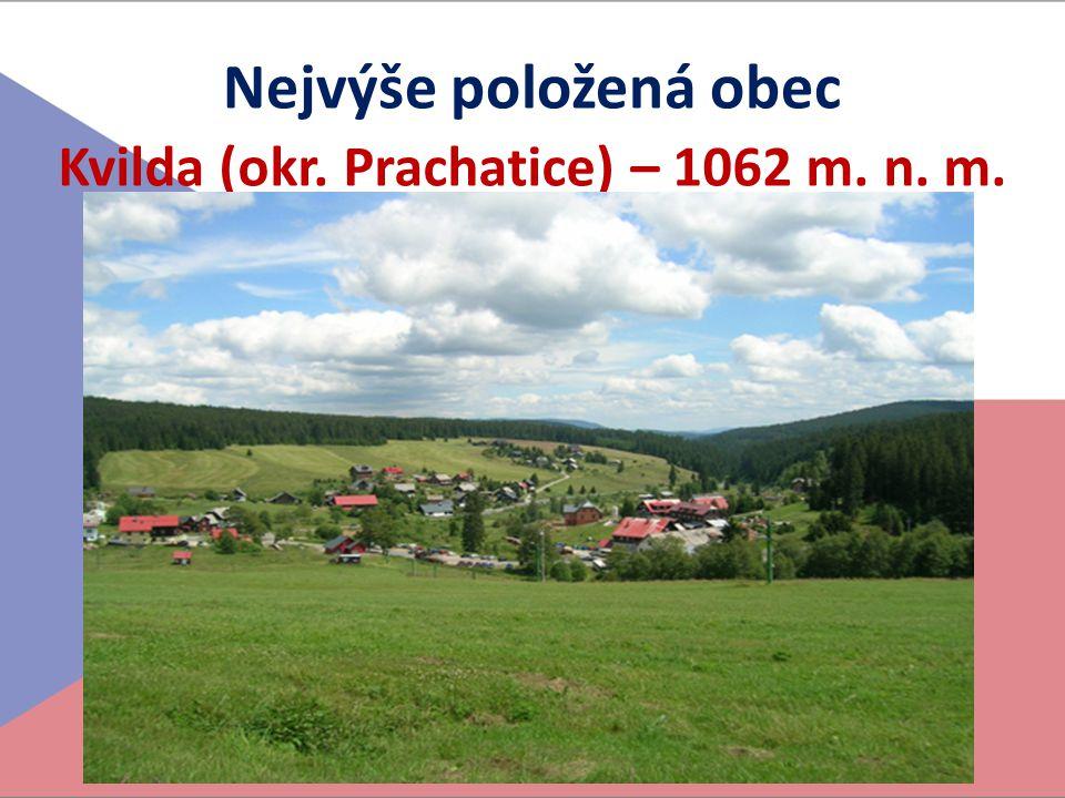 Kvilda (okr. Prachatice) – 1062 m. n. m.