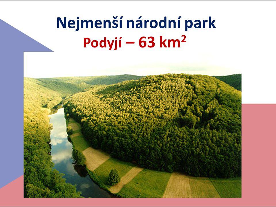 Nejmenší národní park Podyjí – 63 km2