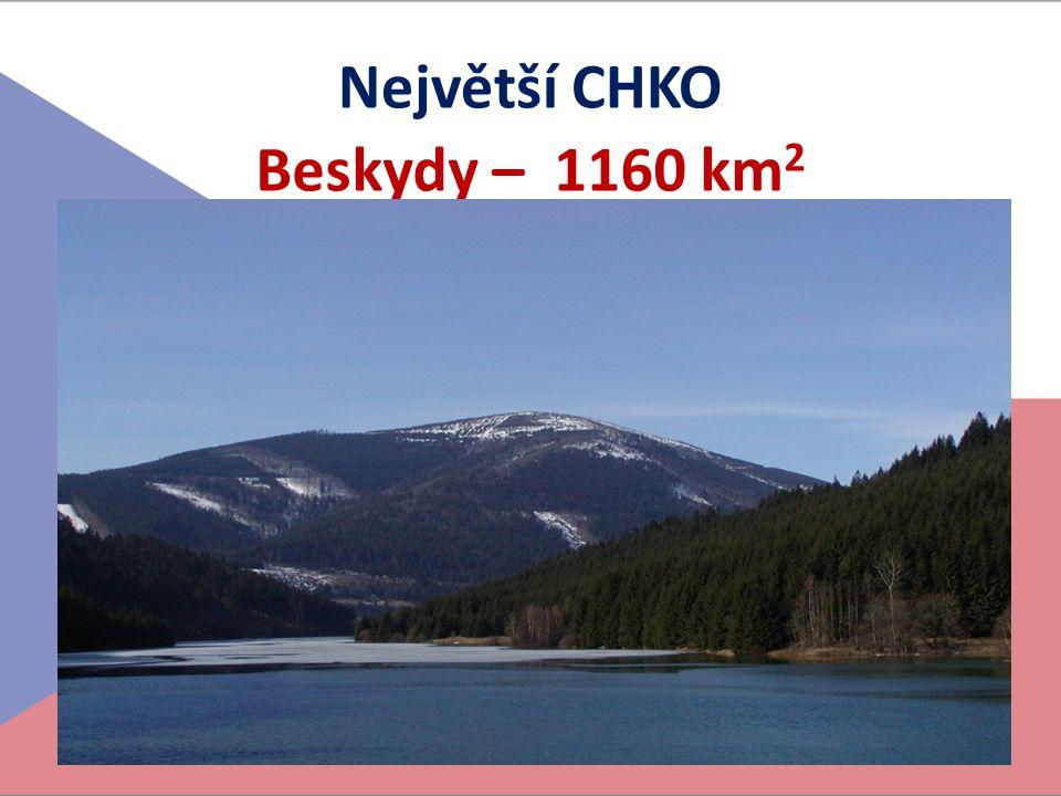 Největší CHKO Beskydy – 1160 km2