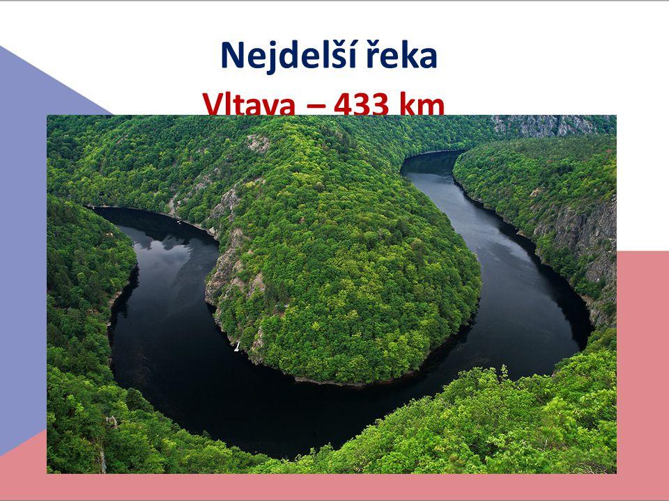 Nejdelší řeka Vltava – 433 km