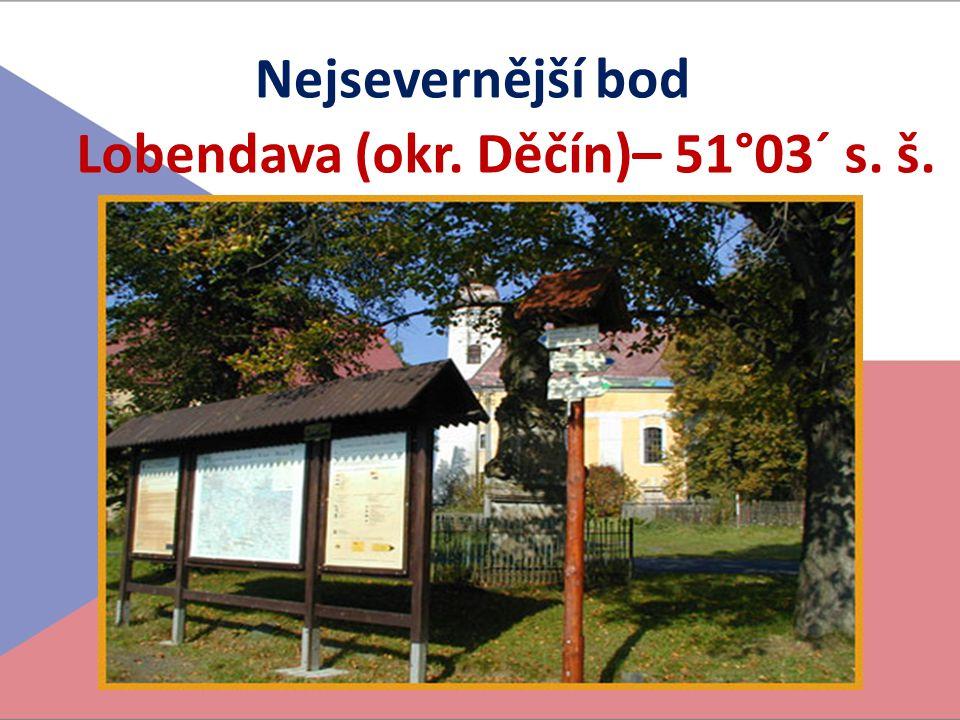 Lobendava (okr. Děčín)– 51°03´ s. š.