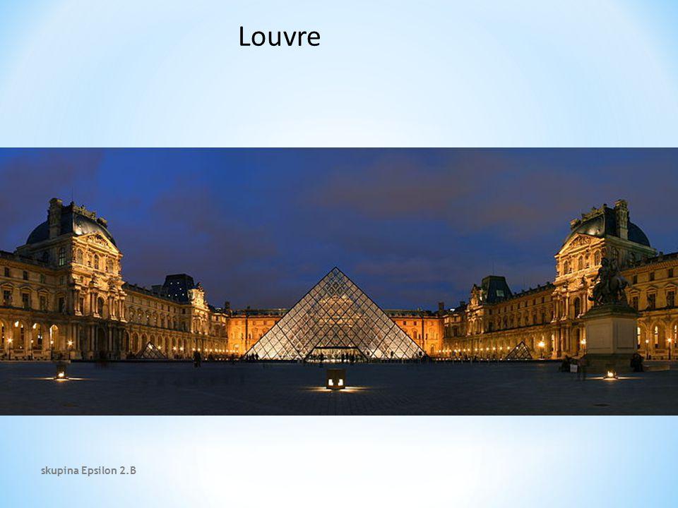 Louvre Místa z natáčení skupina Epsilon 2.B