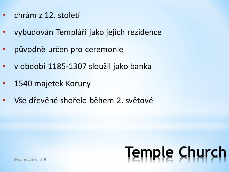 Temple Church chrám z 12. století