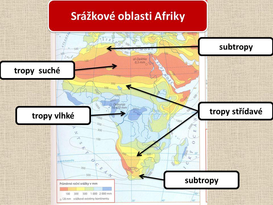 Srážkové oblasti Afriky
