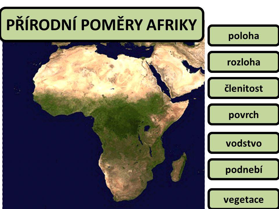 PŘÍRODNÍ POMĚRY AFRIKY