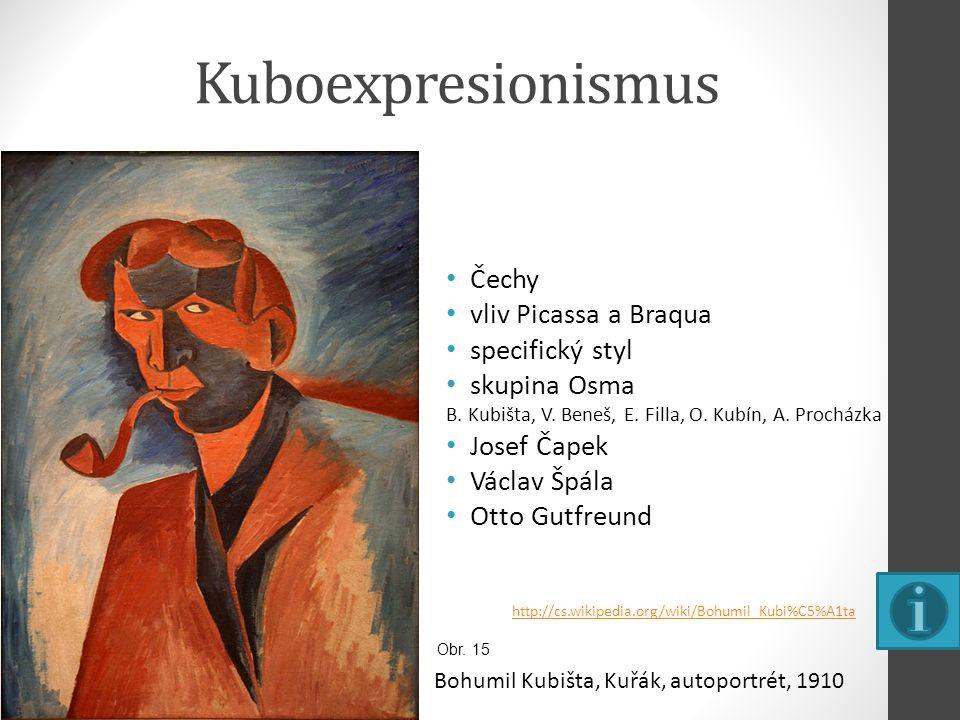 Kuboexpresionismus Čechy vliv Picassa a Braqua specifický styl