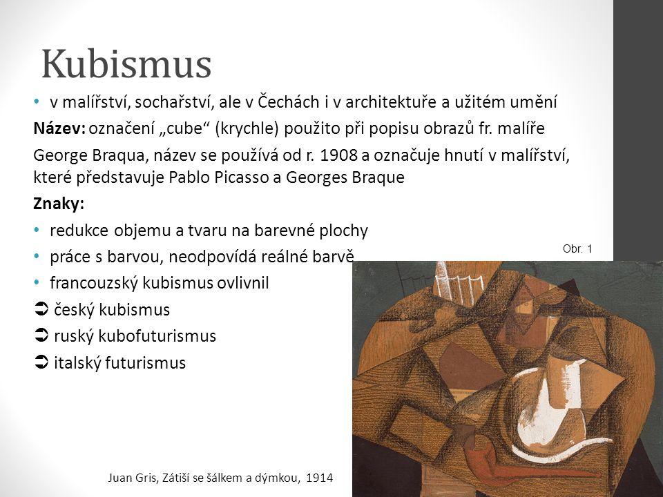 Kubismus v malířství, sochařství, ale v Čechách i v architektuře a užitém umění.