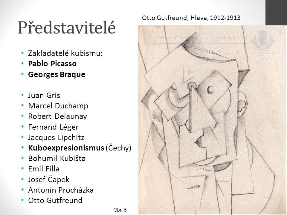 Představitelé Zakladatelé kubismu: Pablo Picasso Georges Braque