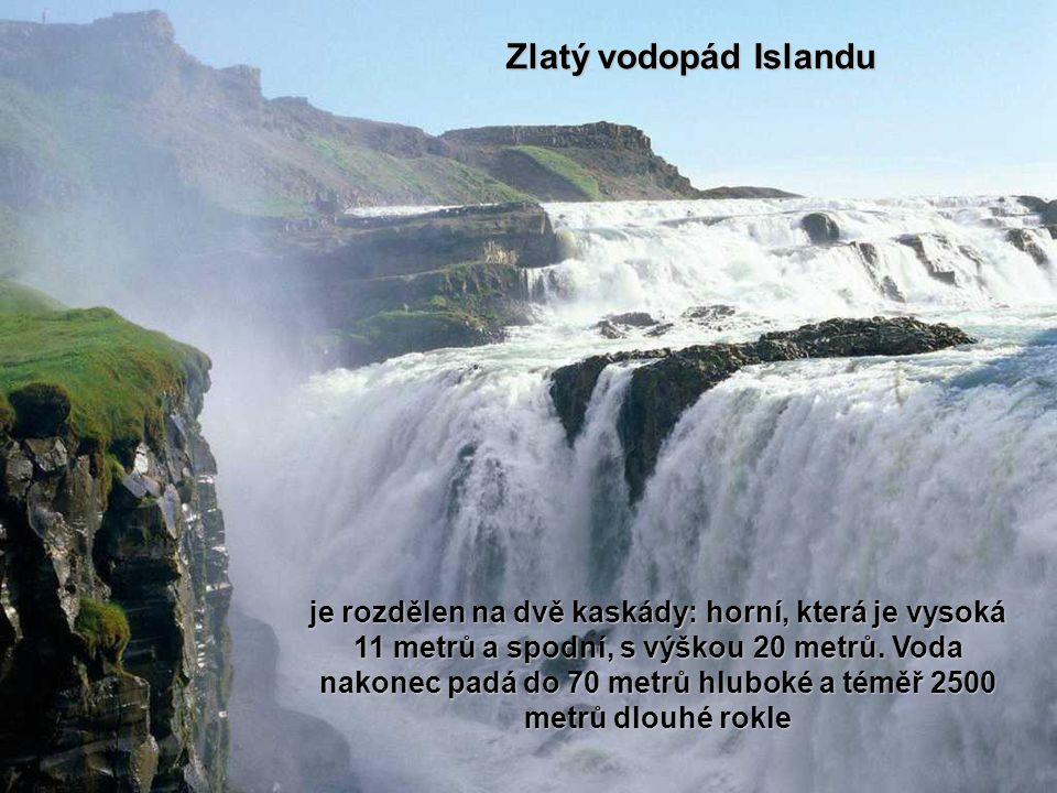 Zlatý vodopád Islandu
