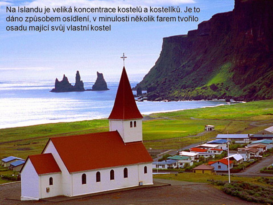 Na Islandu je veliká koncentrace kostelů a kostelíků