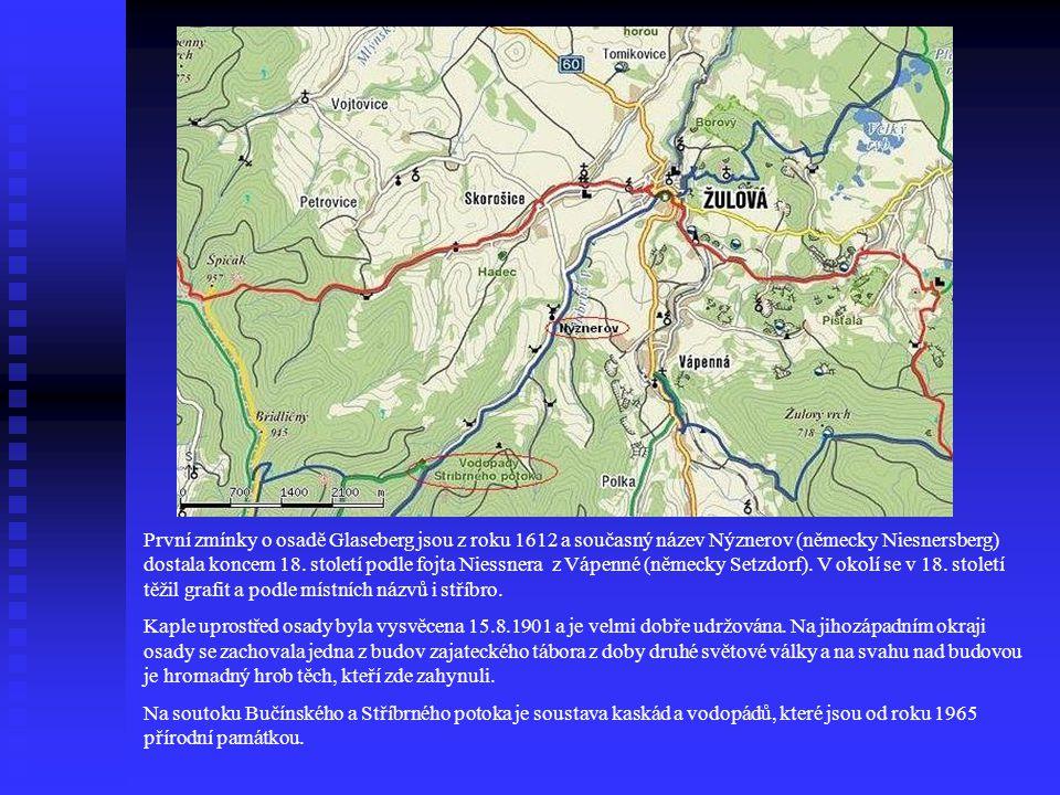 První zmínky o osadě Glaseberg jsou z roku 1612 a současný název Nýznerov (německy Niesnersberg) dostala koncem 18. století podle fojta Niessnera z Vápenné (německy Setzdorf). V okolí se v 18. století těžil grafit a podle místních názvů i stříbro.