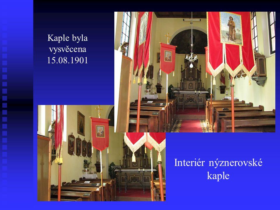 Interiér nýznerovské kaple