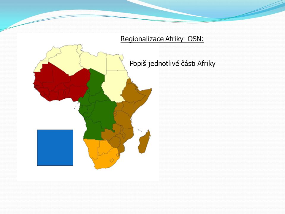 Regionalizace Afriky OSN: