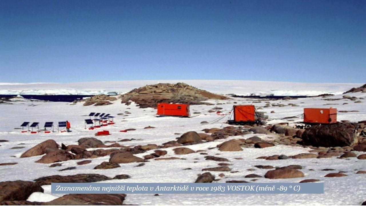 Zaznamenána nejnižší teplota v Antarktidě v roce 1983 VOSTOK (méně -89 ° C)