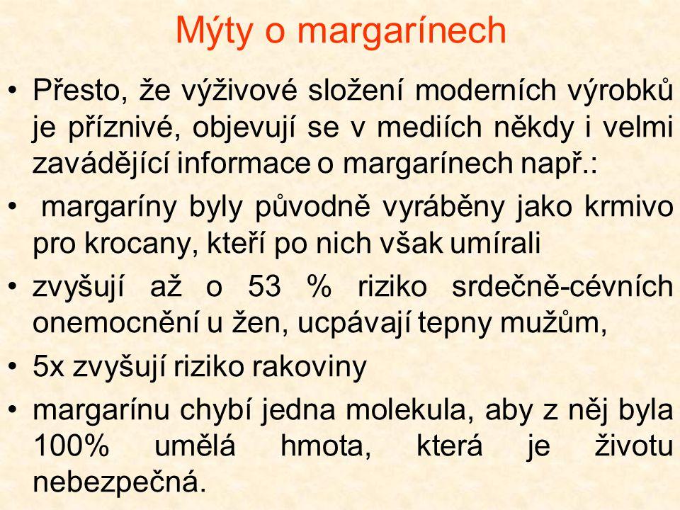 Mýty o margarínech