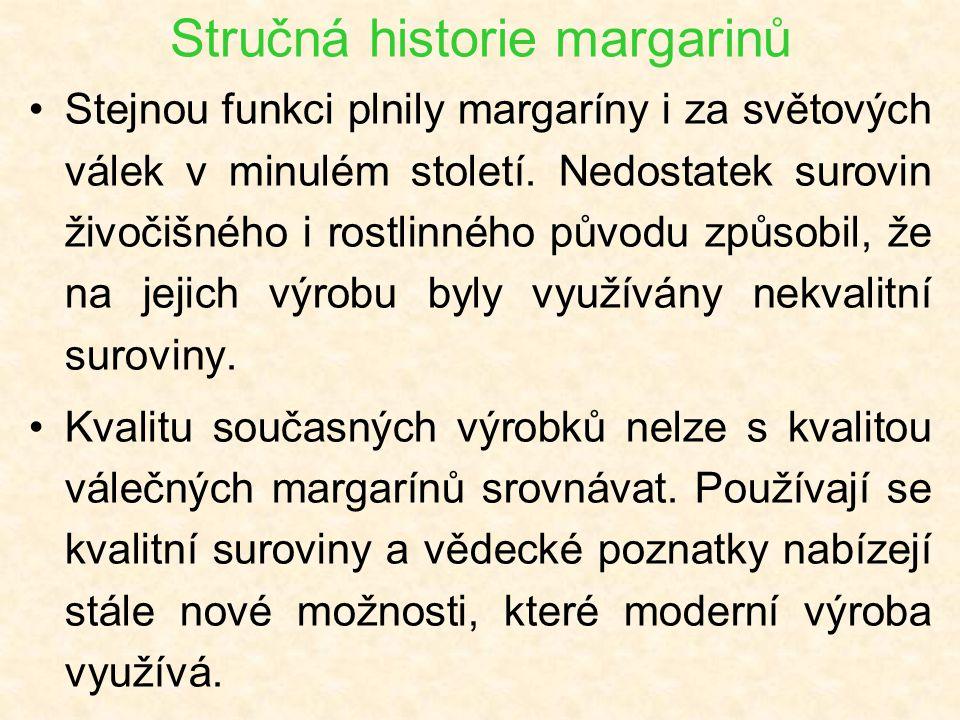 Stručná historie margarinů