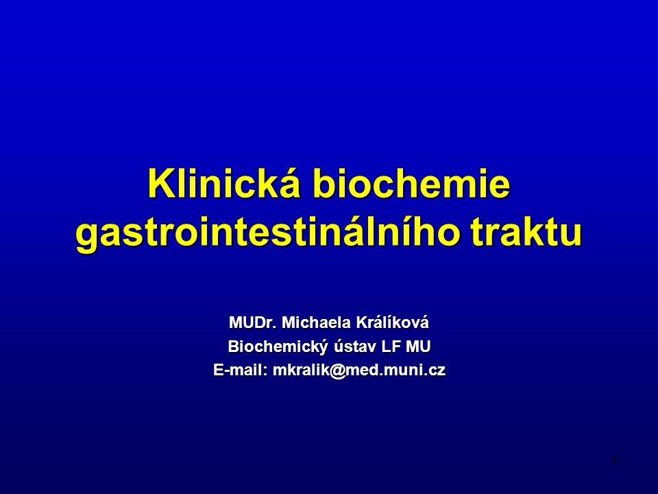 Klinická biochemie gastrointestinálního traktu